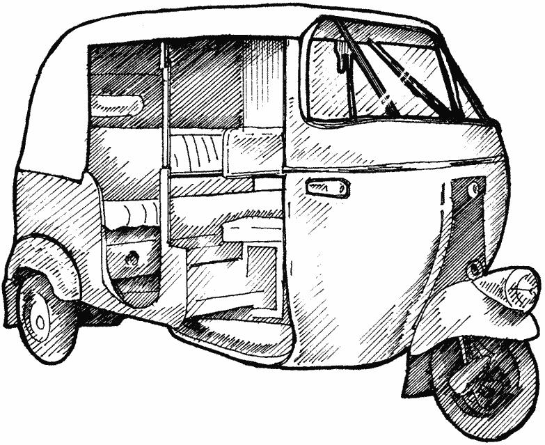 Download Free png auto rickshaw clipart black a.