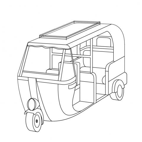 Auto rickshaw clipart black and white 11 » Clipart Station.
