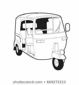 Auto rickshaw clipart black and white 2 » Clipart Portal.