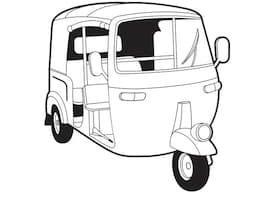Auto rickshaw clipart black and white 1 » Clipart Portal.