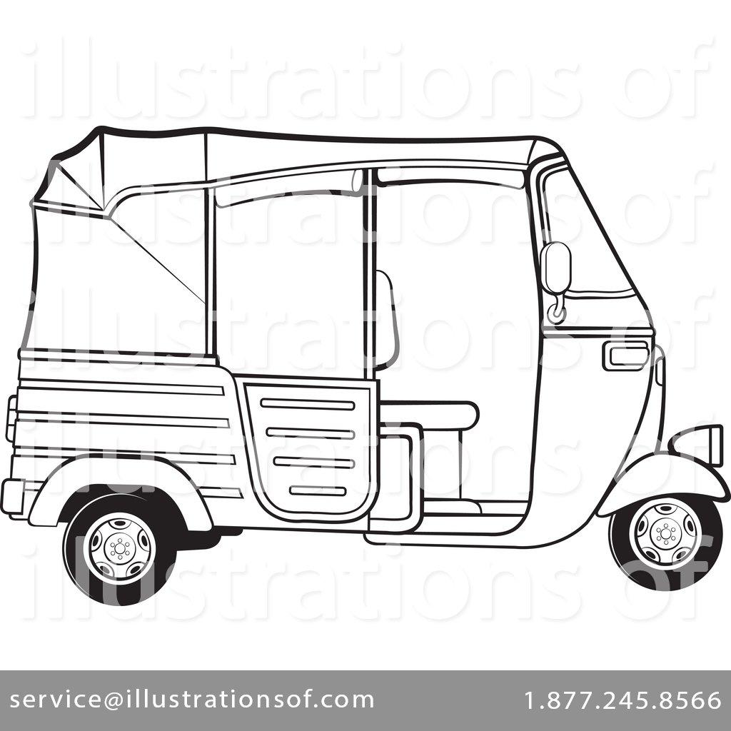 Rickshaw Clipart #1499158.