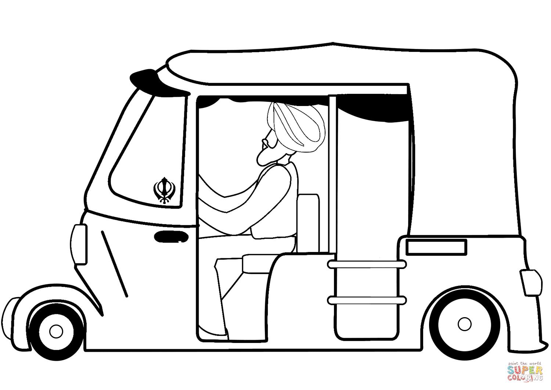 Auto rickshaw clipart black and white » Clipart Portal.