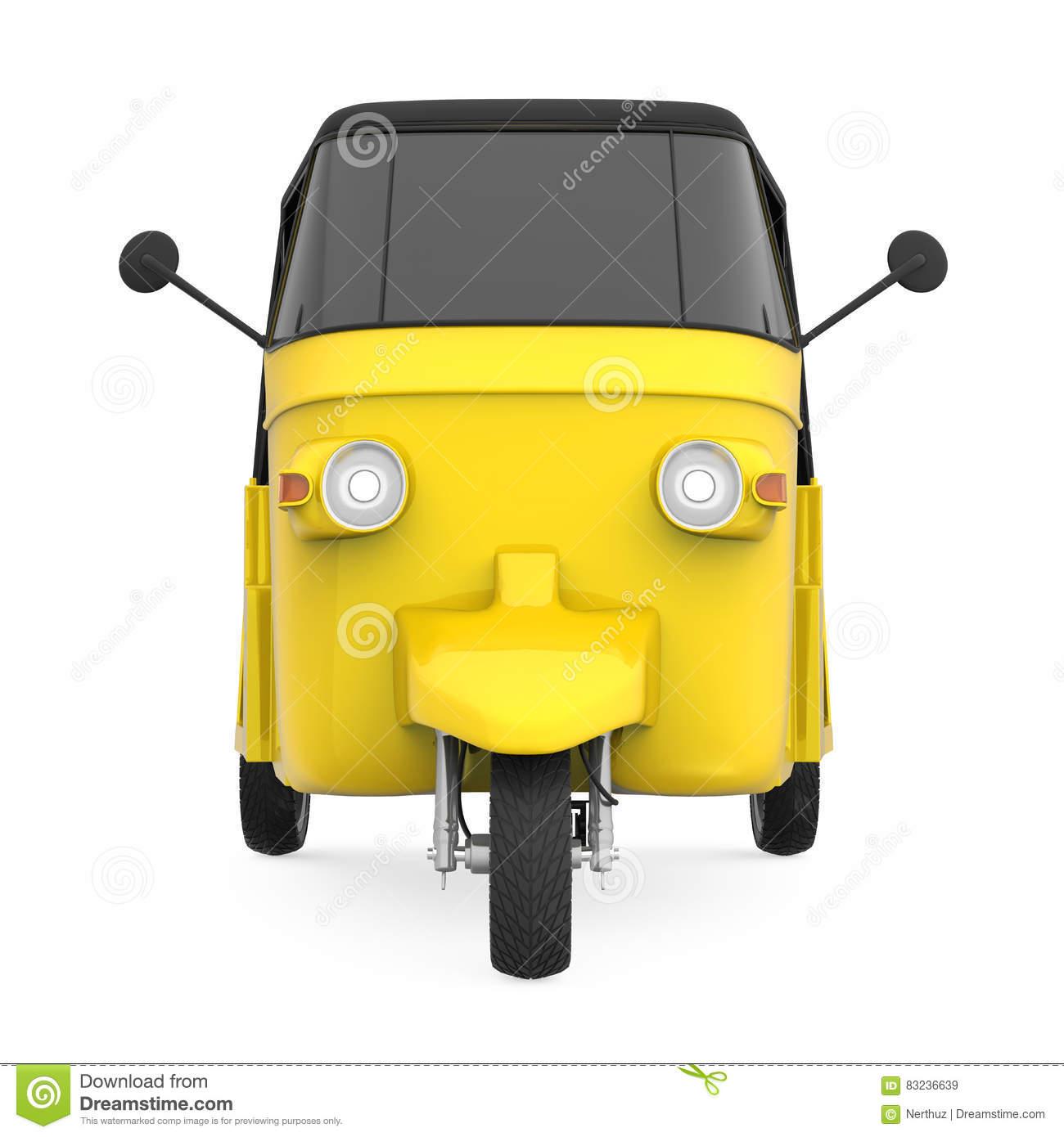 Auto Rickshaw Front Clipart.