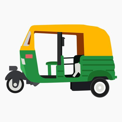 Auto rickshaw vector art and illustration.