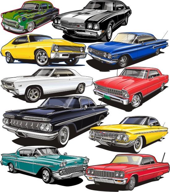 Car show clip art.