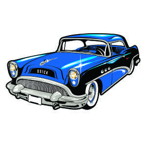 Retro car show clipart.