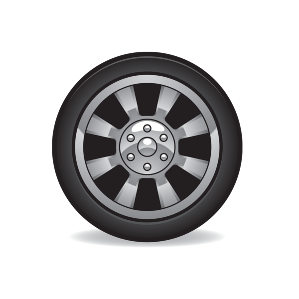 Car tires clipart.