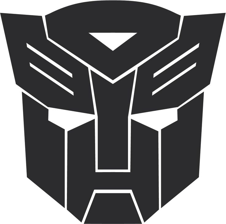 Transformers clipart autobot sign pencil and in color.