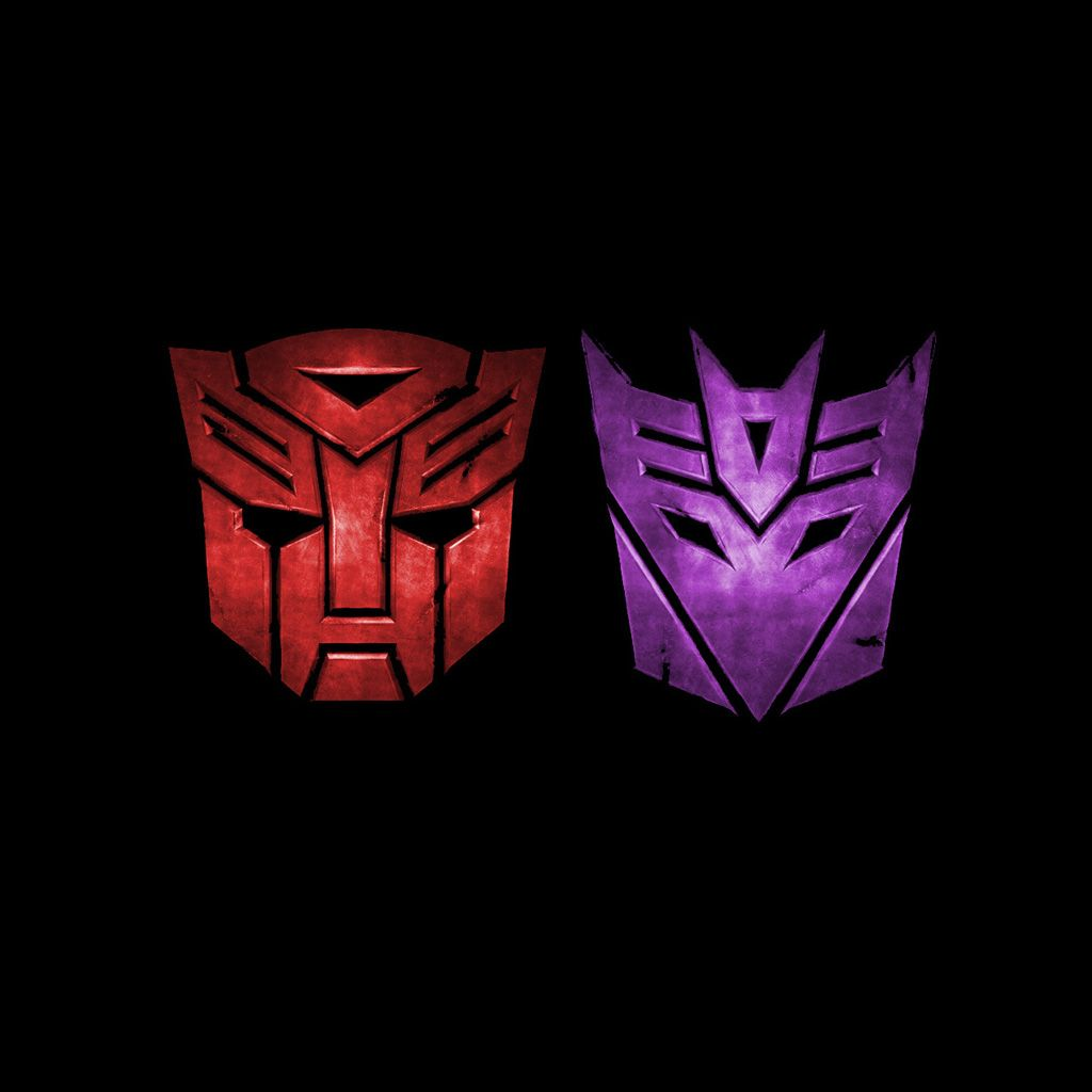 Transformers Autobot and Decepticon Symbols.