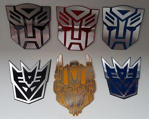 Details about New Autobots Decepticons Logo Symbol Transformers 3D Car  Decal Sticker Emblem.