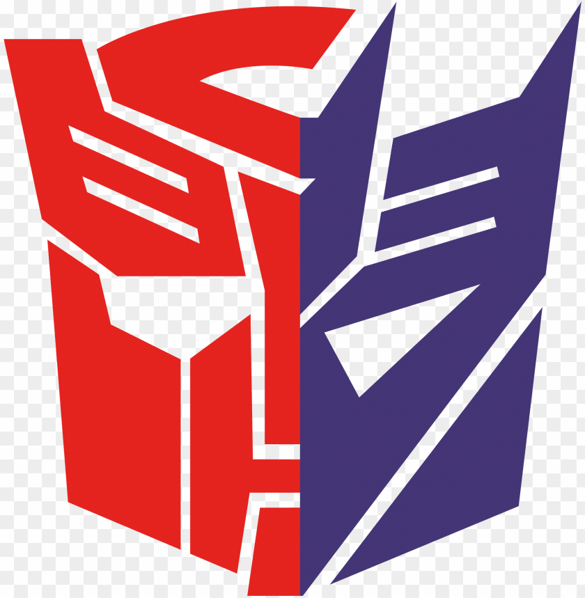 autobot decepticon symbol PNG image with transparent.