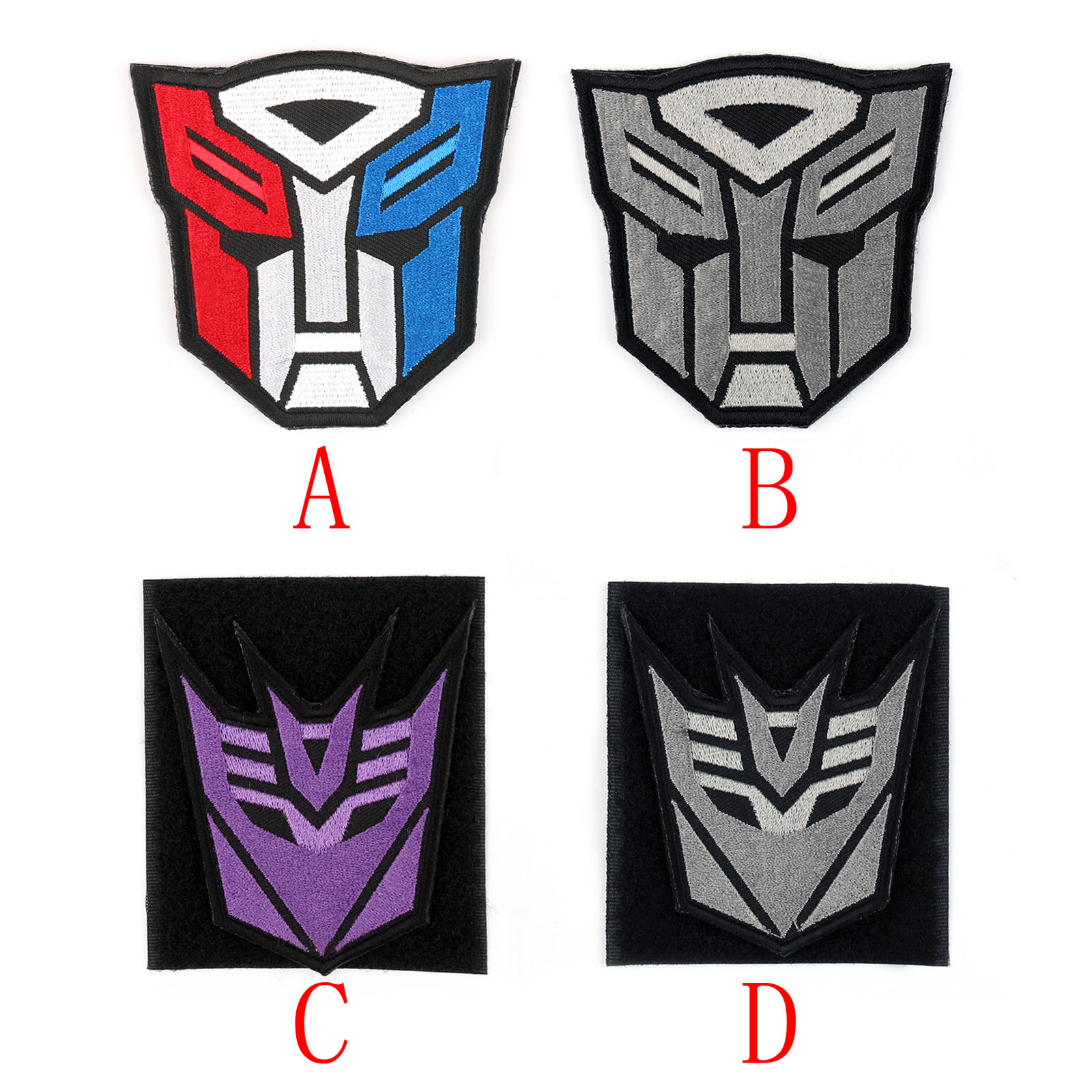 Detalles acerca de Logotipo de Transformers Optimus Prime Autobot  Decepticon Bordar Gancho Bucle Parche ss.