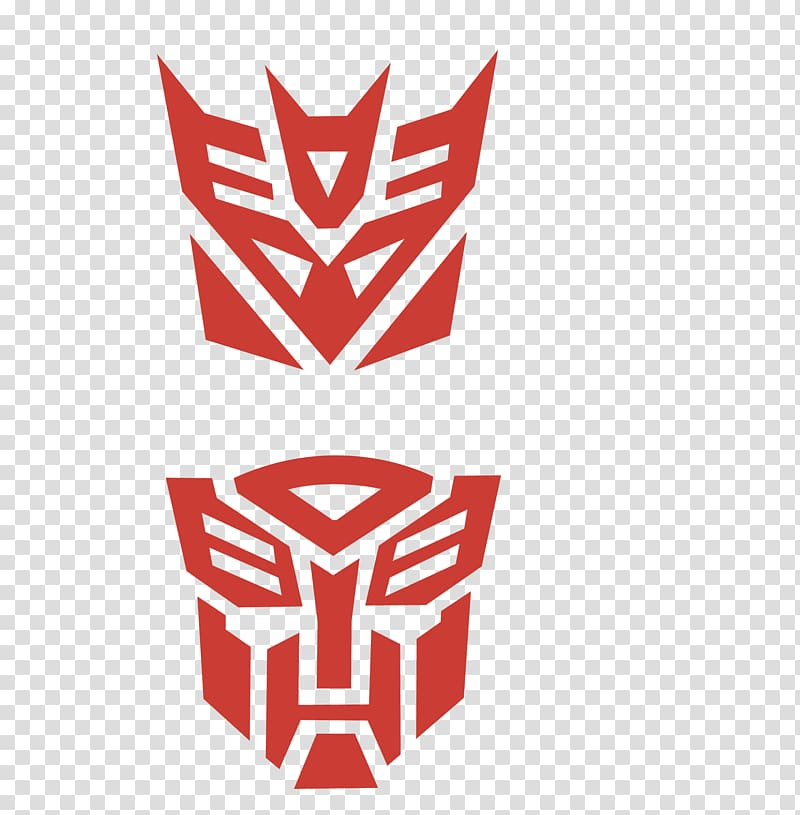 Transformers Autobots and Decepticons logo illustration.