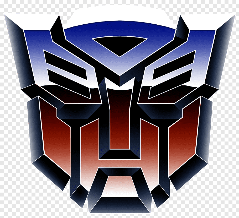Blue and red Autobots logo, Transformers: The Game Optimus.