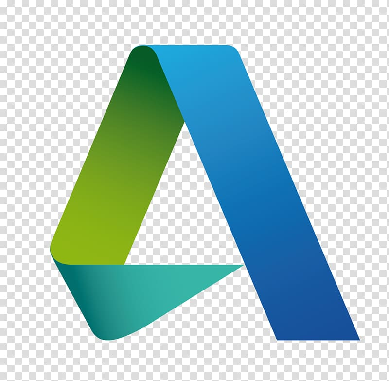 Green, teal, and blue triangle logo, Autodesk Revit Logo.