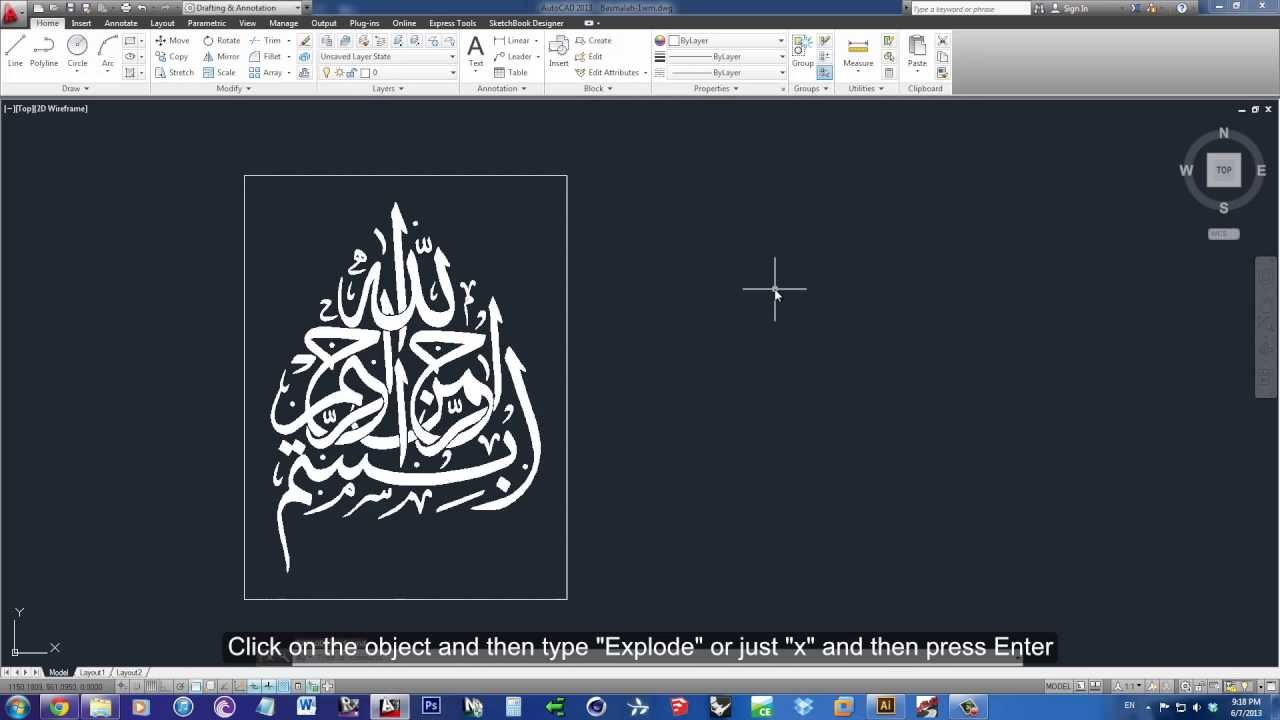 How To Transform an Image into Lines to AutoCAD Using Illustrator  (Tutorial).