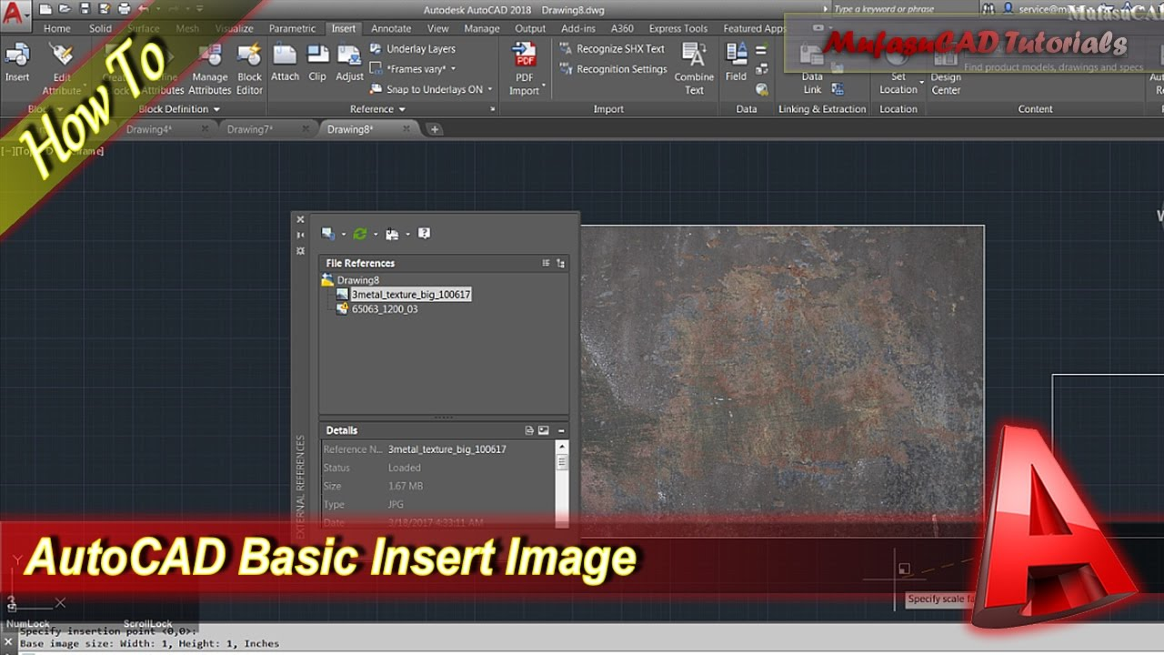 AutoCAD How To Insert Image.