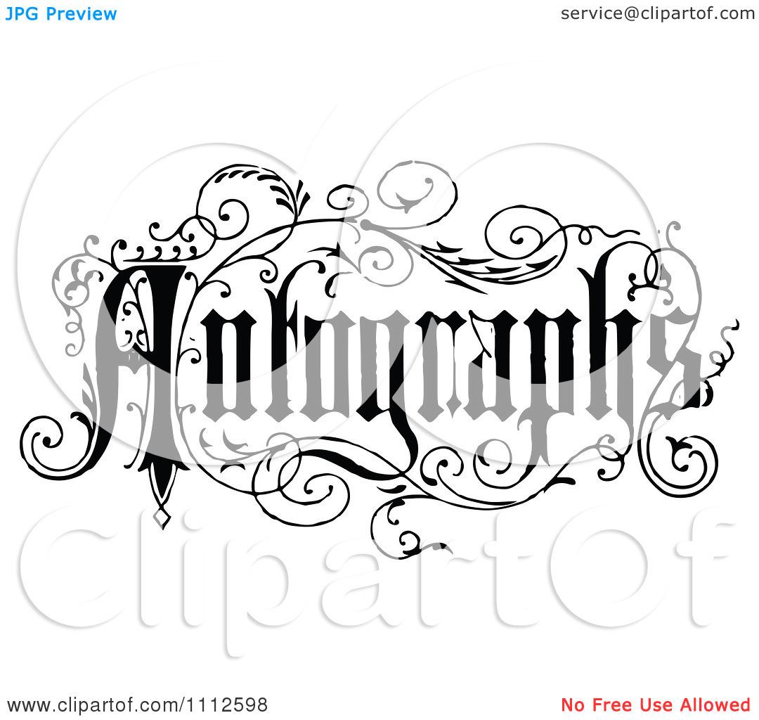 Autograph Clipart #1.