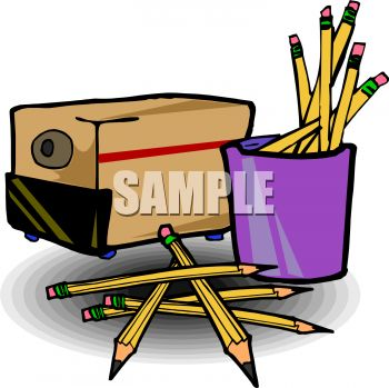Electric Pencil Sharpener Clipart.