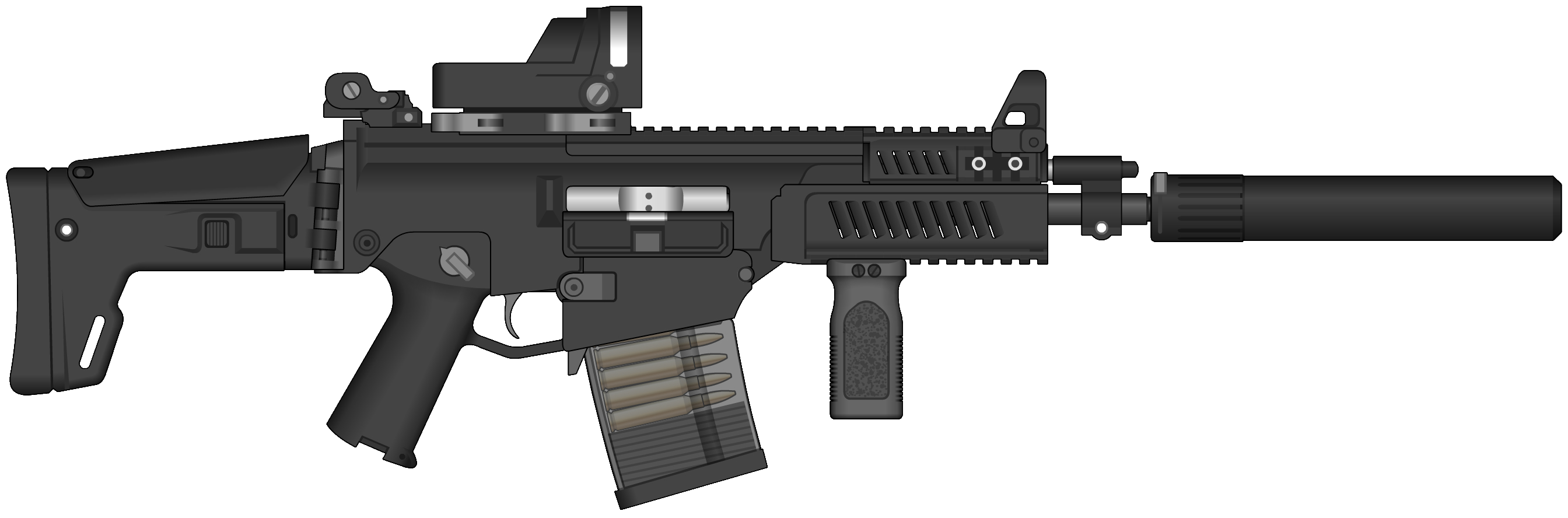Assault rifle PNG images, free download.