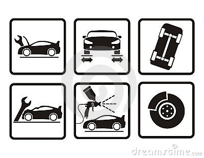 Auto Repair Icons Royalty Free Stock Image.