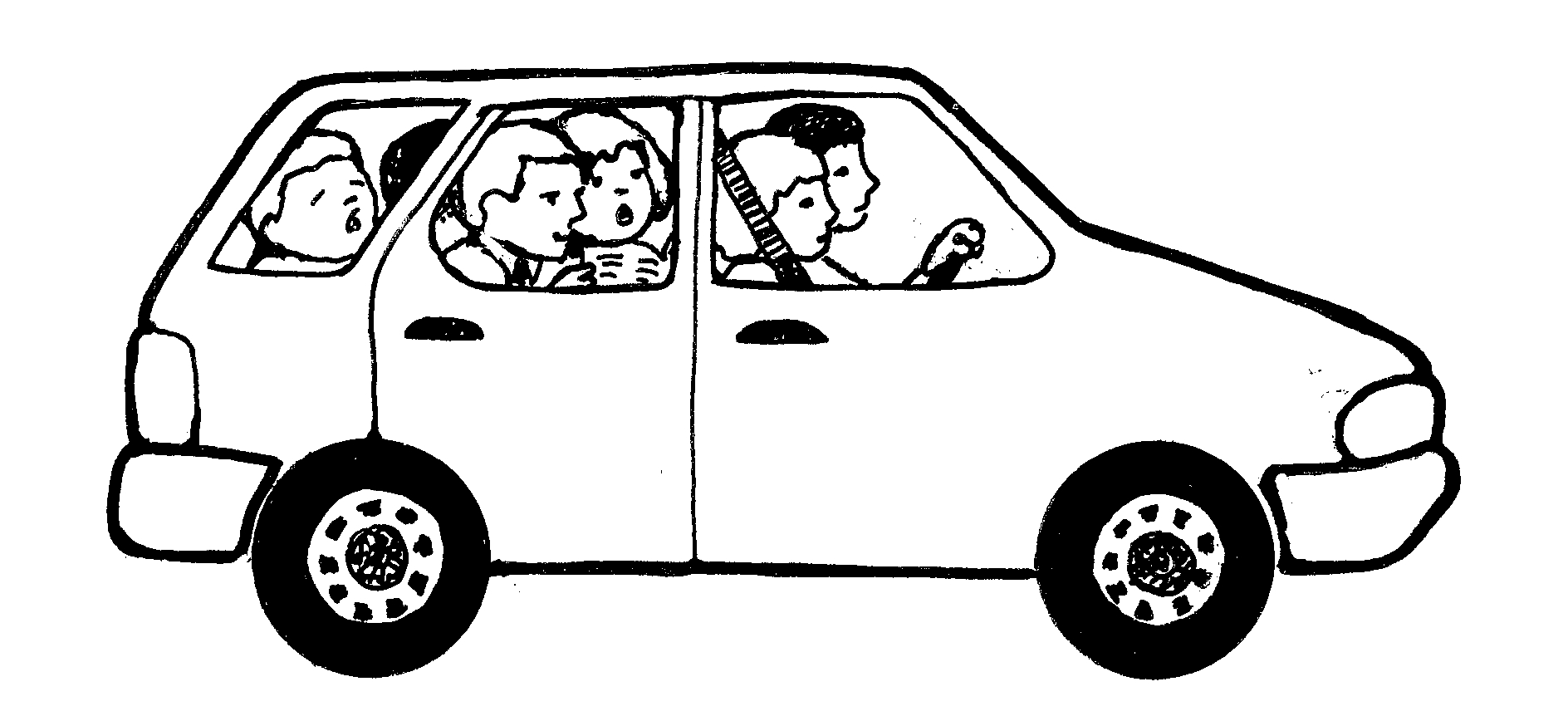 People In Car Clipart.