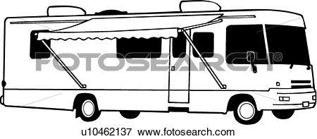 Automobile camper clipart #16