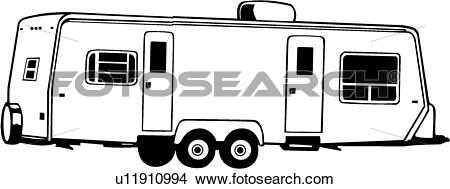 Automobile Camper Clipart