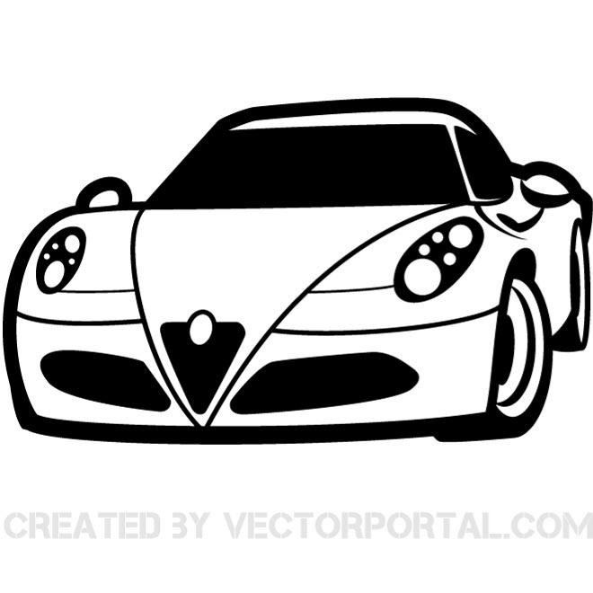 RACING CAR CLIP ART VECTOR.