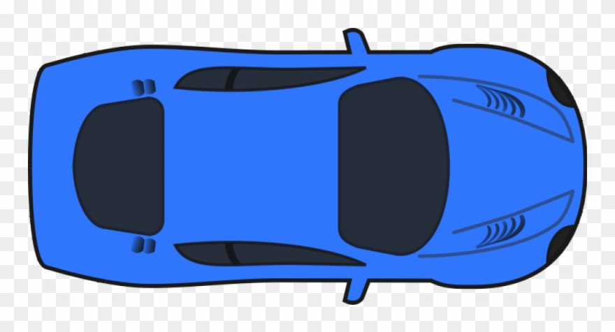 Dark Blue Racing Car Vector Illustration.