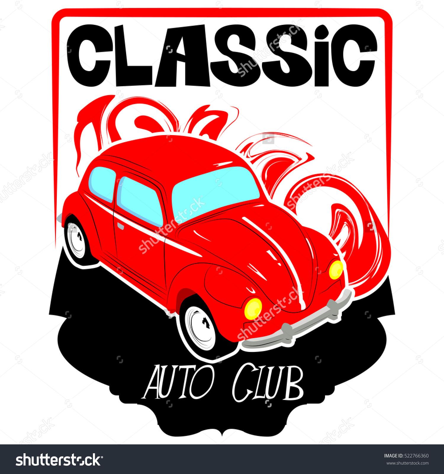 Vector Classic Auto Club Logo Stock Vector 522766360.
