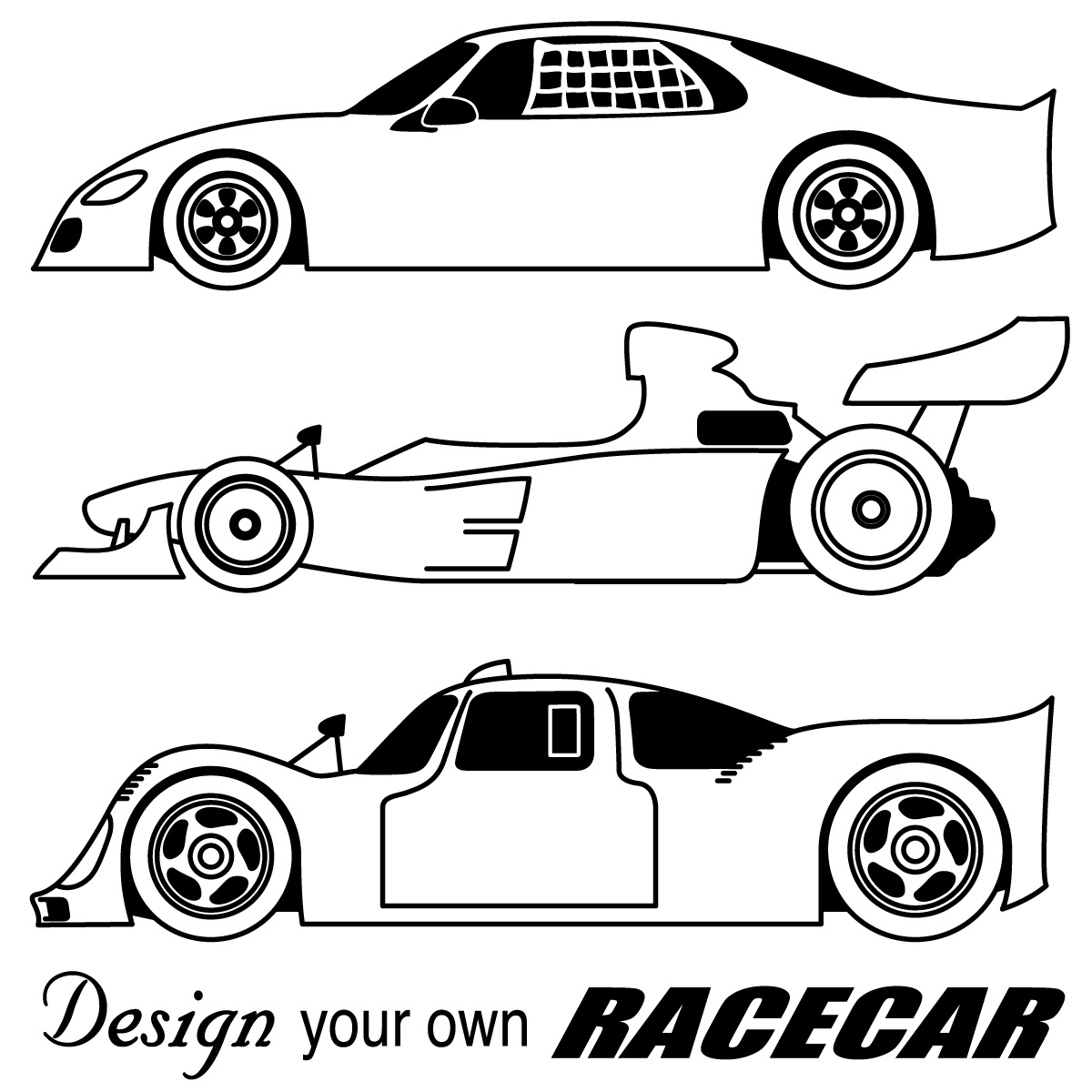 Nascar Race Car Black Clipart.