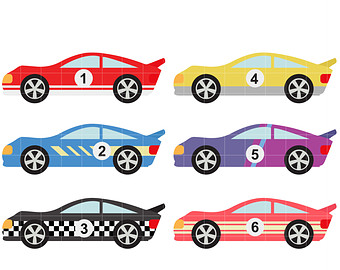 Race car clipart.