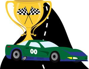 Race car trophy clipart.
