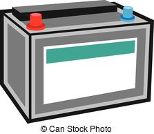 Vector of 12 volt car battery design icon.