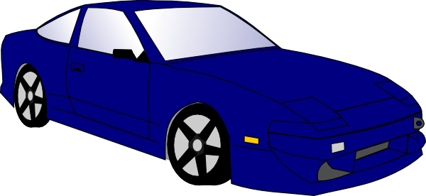 Blue Car clip art Free vector in Open office drawing svg ( .svg.