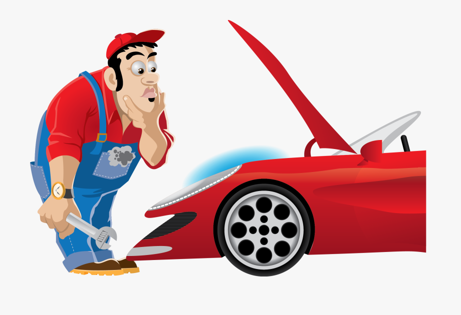 Clip Art Working On Car Banner.