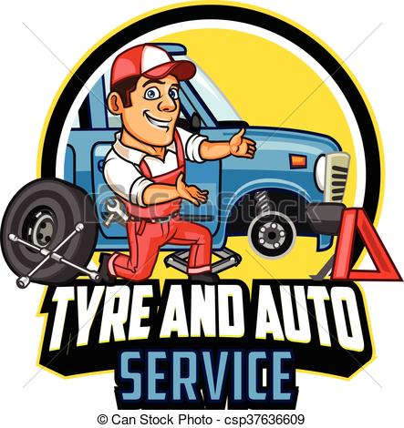 Tyre Service Clipart.