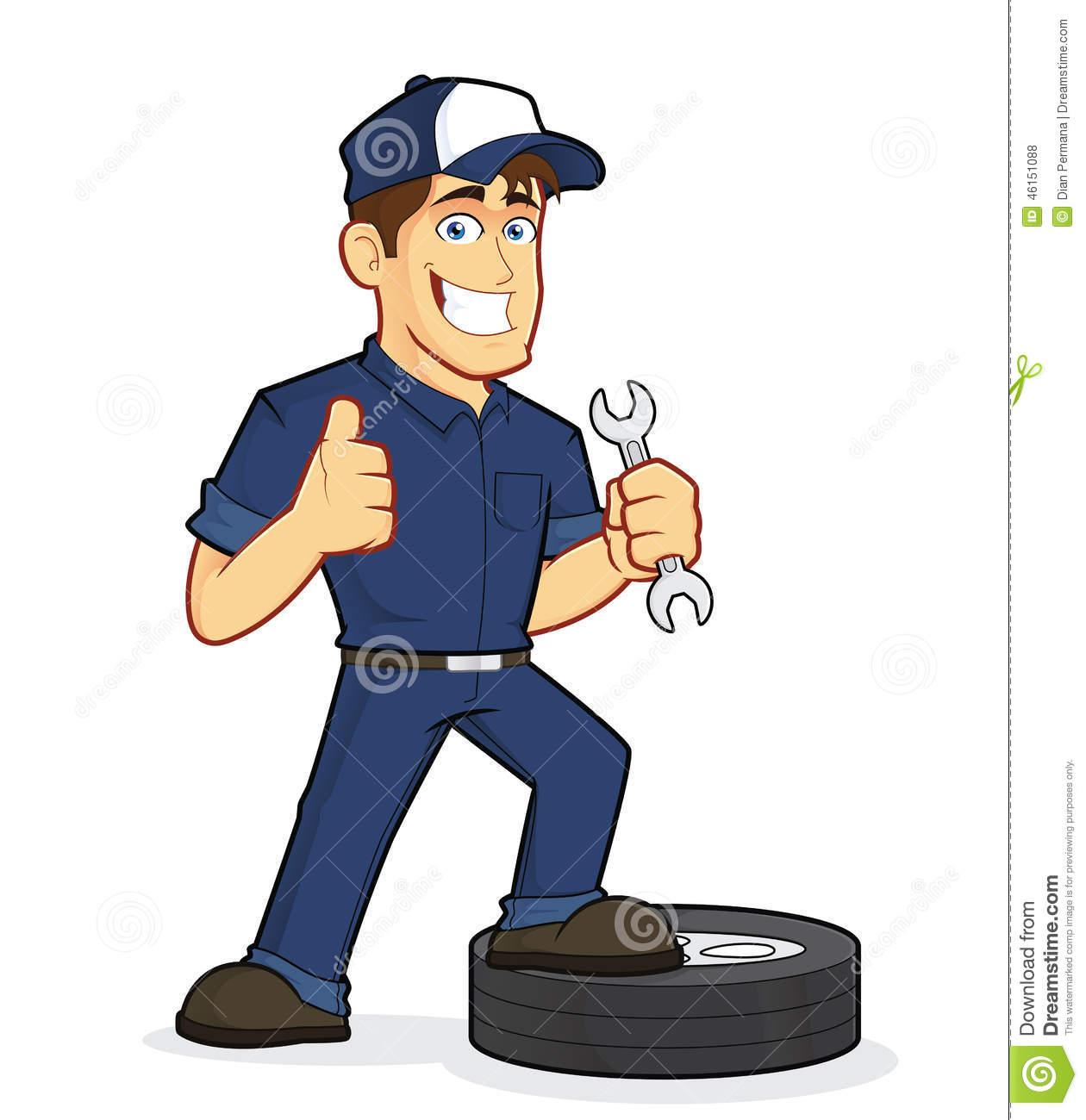 Motor Mechanic Clipart.