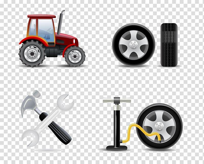 Car Automobile repair shop Maintenance Tire, Agricultural.