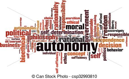 Vector Clip Art of Autonomy word cloud concept. Vector.