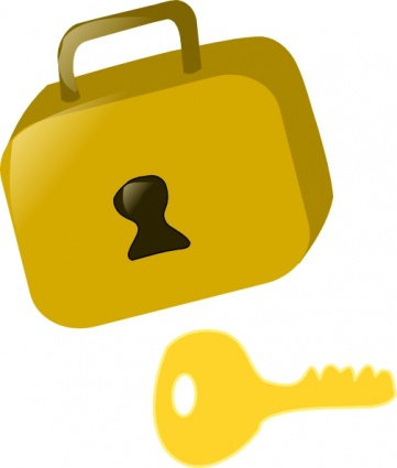 Lock And Key clip art.
