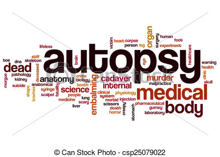 Clip Art of Autopsy word cloud concept csp25079022.