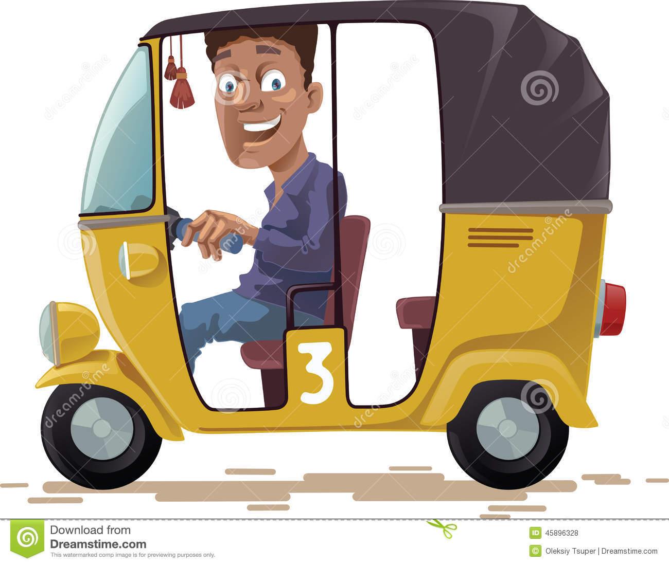 Auto rickshaw clipart.