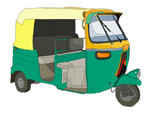 Gallery For > Clack Auto Rickshaw Clipart.