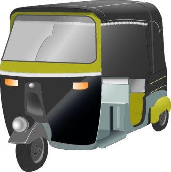 Auto rickshaw free, Vector Files.