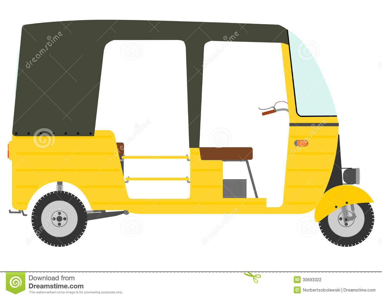 Rickshaw Stock Illustrations.