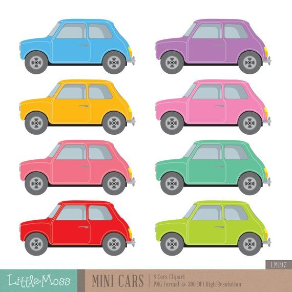Mini Cars Digital Clipart in 2019.