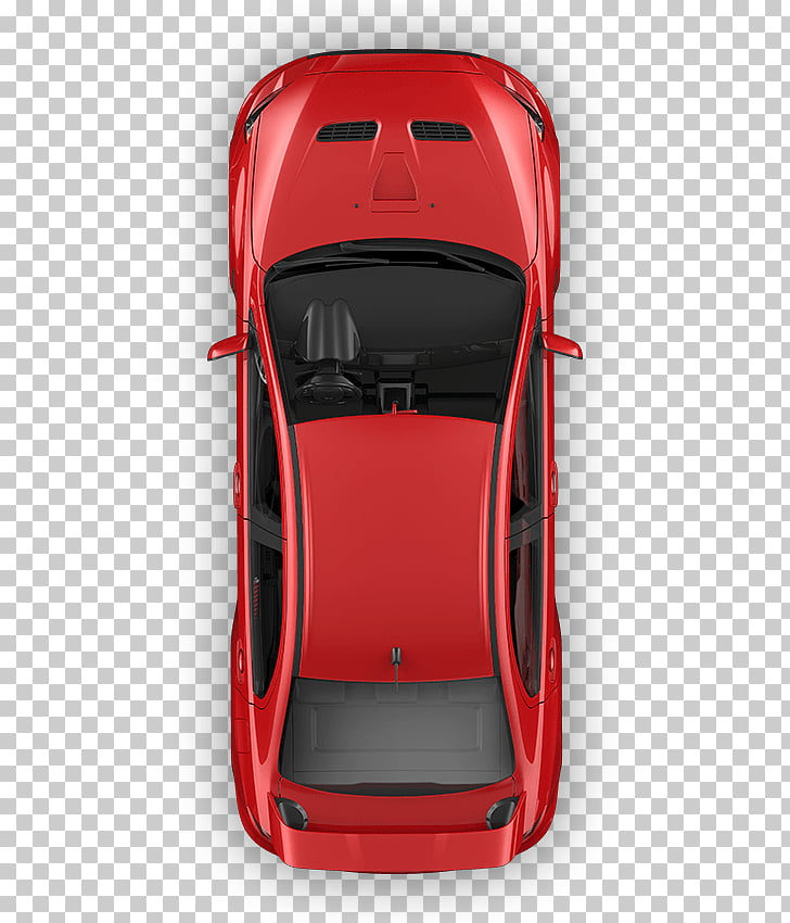 Car door Car seat Top View Motor vehicle, red car top view.