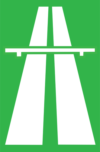 Disegno di vettore di ingresso all'autostrada sezione roadsign.